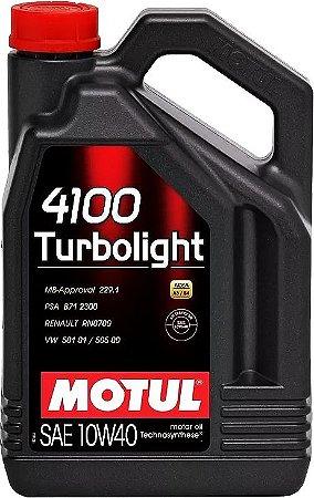 ÓLEO MOTUL 4100 TURBOLIGHT 10W40 - 4L