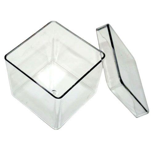 Caixinha Acrilica 4x4 Transparente - pct 10 unidades