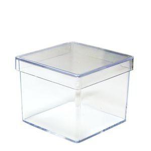 Caixinha Acrilica 5x5 Transparente - pct 10 unidades