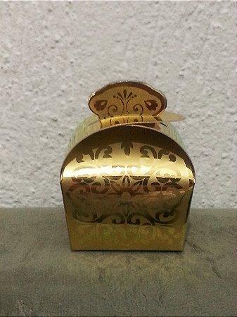 Caixinha Papel Dourada Princesa - 10 Unids