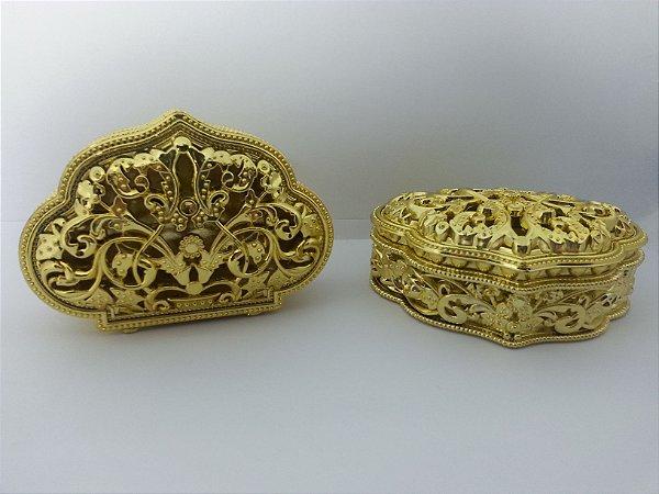 Mini Porta Joia De Luxe Dourado - Pct  10 Unids.