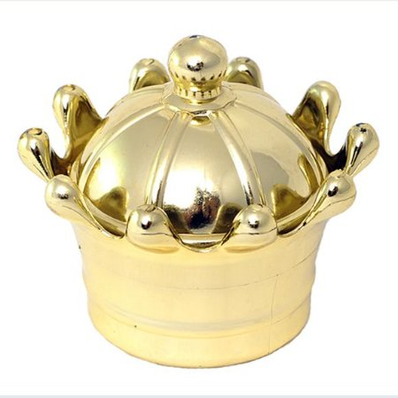 Caixinha Coroa Vazada Dourada - Pct 10 Unids