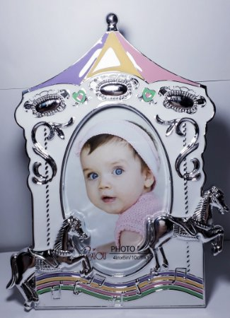 Porta Retrato Perolado Com Strass Realeza Casamento Princesa