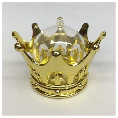 Lembrancinha Mini Cupula Coroa Dourada 10 Unids