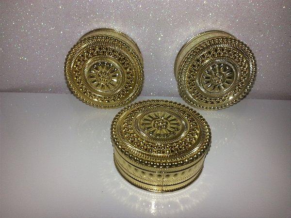 Porta Joia Gold Redondo Dourado 10 Unids