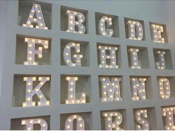Letra Luminaria 3d Luminoso Led Pilha Decoração Festa Nome