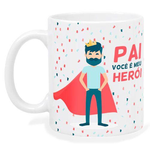 Caneca Pai Você é Meu Herói