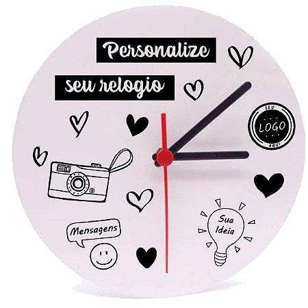 Relógio Azulejo Redondo Personalizado 20x20
