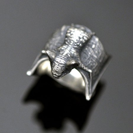 Anel Morcego em Prata 950K