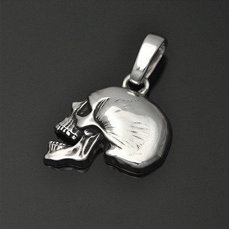 Pingente Caveira de perfil em prata 950k