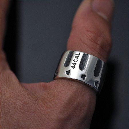Anel calibre 44 em prata 950k (estreito)