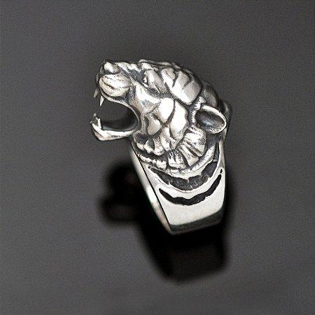 Anel tigre-de-bengala em prata 950k