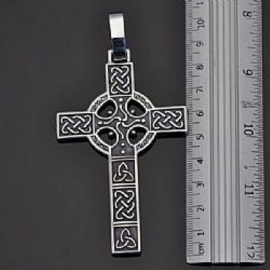 Cruz  Peitoral Céltica em prata 950k