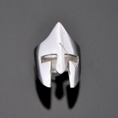 Anel Capacete Espartano do filme 300 em prata