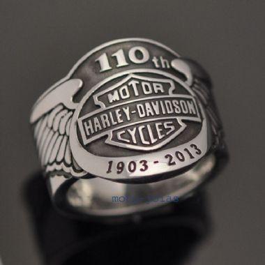 Anel Harley-Davidson 110 Anos em prata