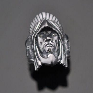 Anel Indio Grande Chefe em prata