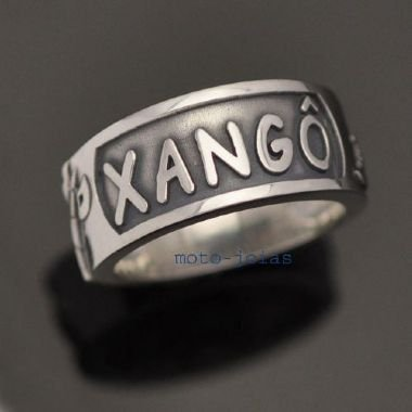 Anel Orixá Xangô em Prata 950k