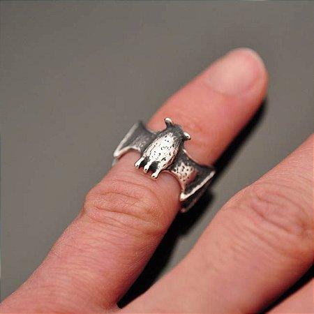 Anel Morcego Feminino em Prata 950K