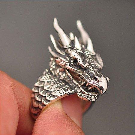 Anel Dragão (Eragon) em prata 950k