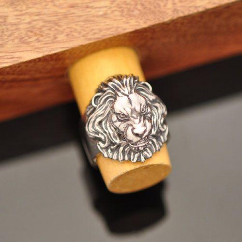Anel Leão feroz em Prata 950k