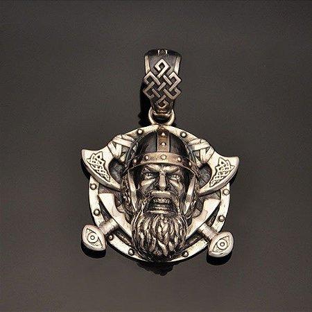Pingente Viking em prata 950k