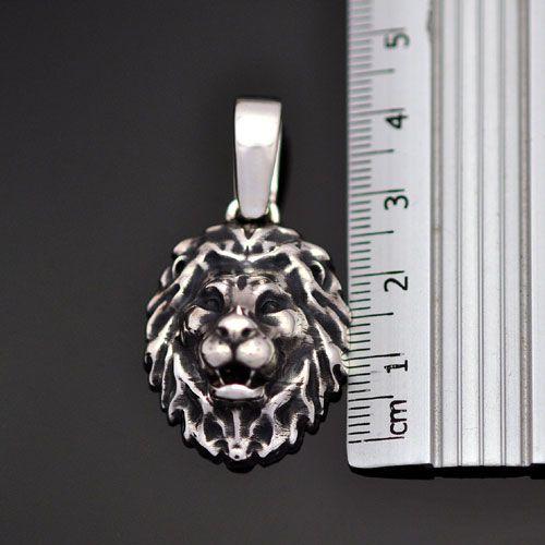 Pingente Leão em Prata 950k (Frente)