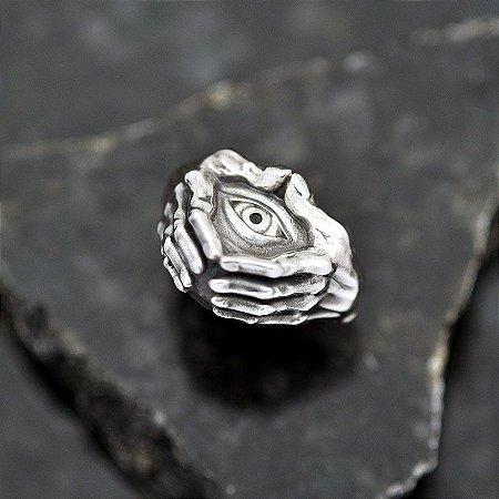 Anel Olho Místico em Prata 950k
