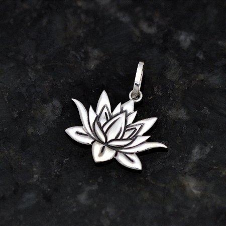 Pingente Flor de Lótus em Prata 950k - Grande