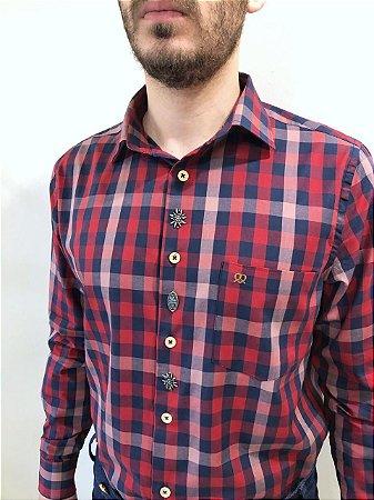 Camisa Traje Típico Xadrez Vermelho