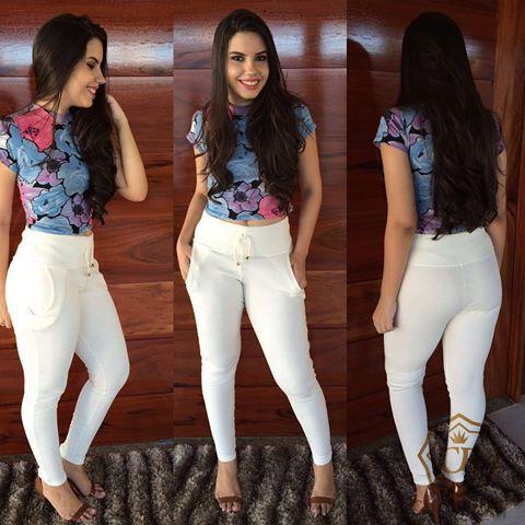 50f31be38c Calça Feminina Ribana Cintura Alta Branca - NR Modas