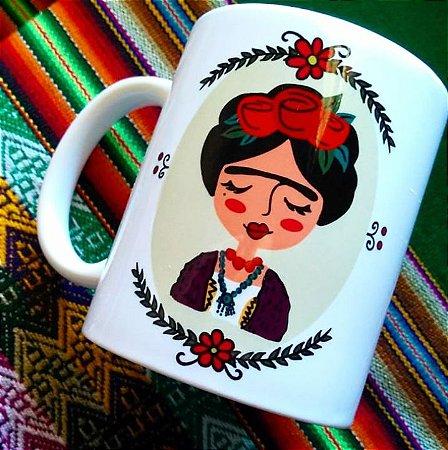 Caneca Frida Kahlo fofinha