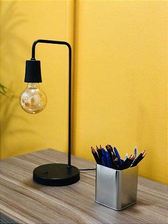 Abajur Luminária De Mesa Retrô Vintage + Lâmpada Filamento ⭐️⭐️⭐️⭐️⭐️