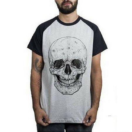 41de0f2a7 Camiseta Caveira Careca com Barba - Loja Careca com Barba