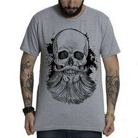 ba7b2f54c Camiseta Caveira com Barba - Loja Careca com Barba