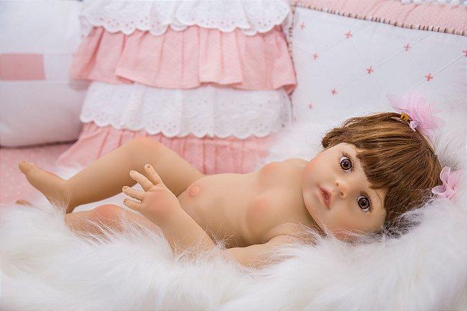 Bebê Reborn Júlia inteira em silicone - Pronta entrega