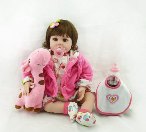 Bebê Reborn Jéssica com girafa - PRONTA ENTREGA