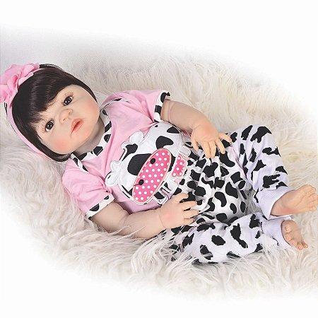 Bebê Reborn Amanda rosa - Pronta entrega
