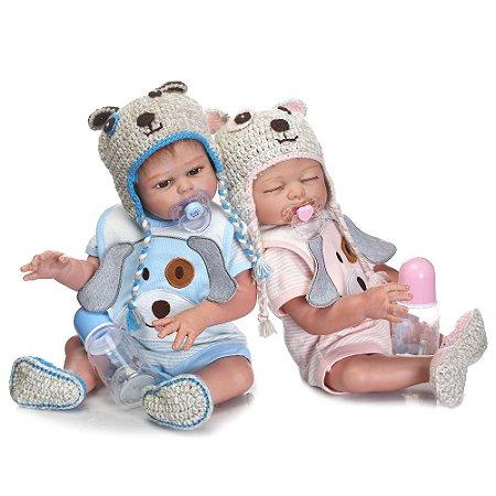 Bebê Reborn gemeos - Andressa e Adam