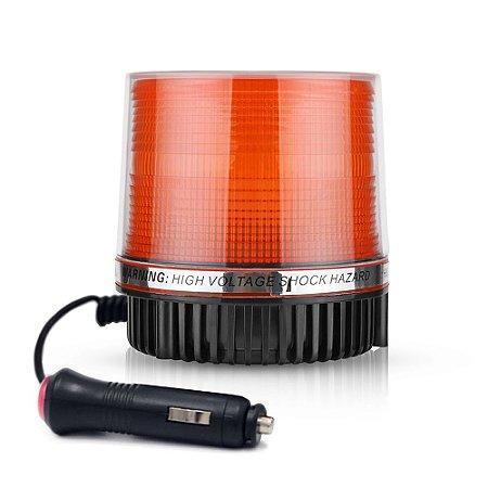 Giroflex de LED Âmbar - Sinalizador Emergência  - Adaptador Isqueiro - Função Piscar 12V