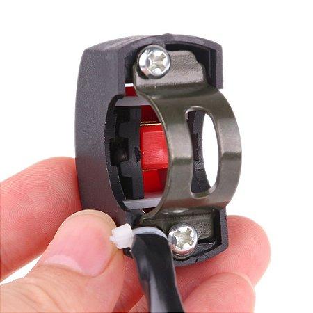Interruptor Botao Controle Liga Desliga p/ Farol Auxiliar Milha - Guidão de Moto