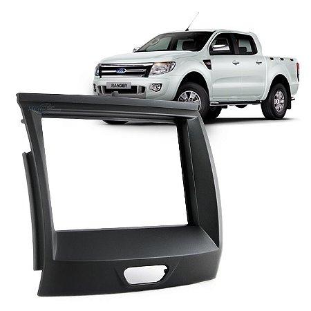 Moldura 2 Din Ford Ranger 2016 Preta