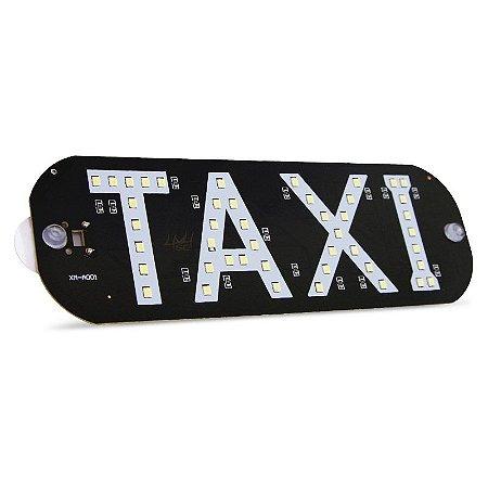 Placa Sinalização Taxi - Fixação Interna - LED SMD - 12V - Und