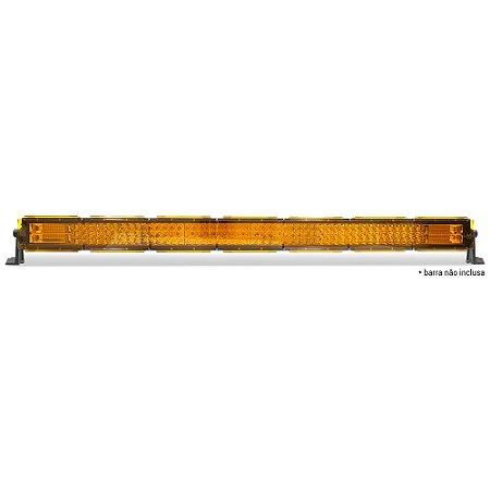 Kit 07 Lente Ambar Capa p/ Barra de LED 106cm 42 Pol - Neblina - Sinalização
