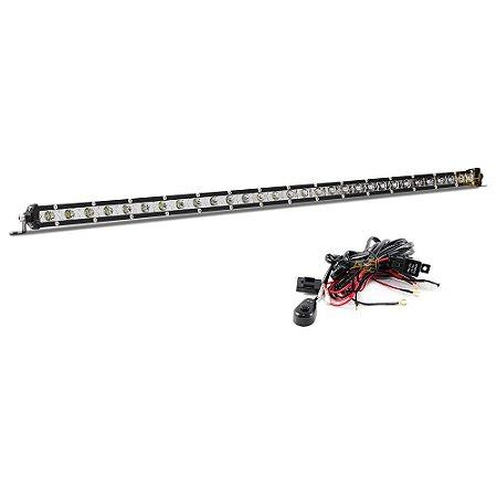 Farol de Milha Barra LED 90w 30 LEDs CREE Slim Fina 81cm 32 Pol + Chicote Instalação