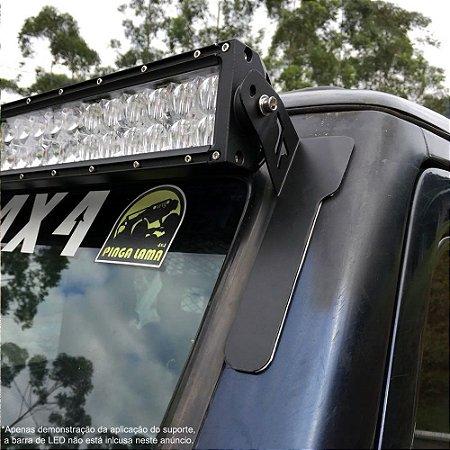 Suporte Frontal para Barra de LED 50 Polegadas - Troller Antiga - Adesivo 3M - Par