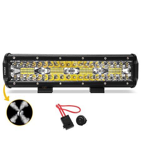 Barra LED 13 Pol 31cm 8D 240W 21600Lm Combo + Fuse + Botão - Und