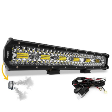 Barra LED 17 Pol 45cm 8D 360W 32400Lm Combo + Chicote