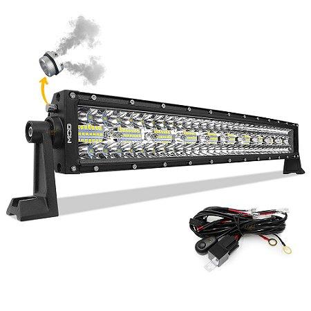 Barra LED 22 Pol 56cm 8D 390W 35100Lm Combo + Chicote - CURVA