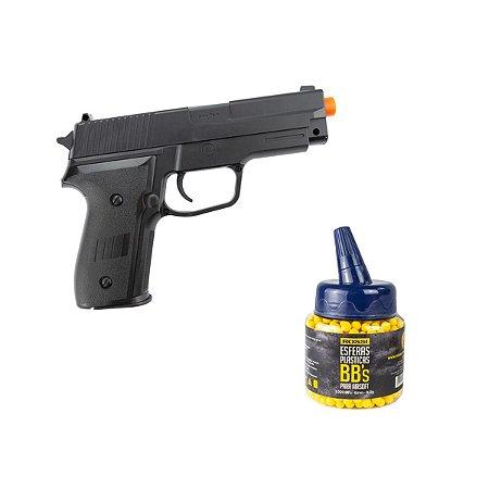 Pistola de airsoft á mola (Spring) P226 Vigor - Cal. 6mm + 1000 BBs Rossi 0.12g