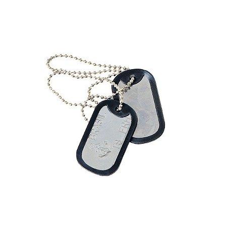 Plaqueta de identificação militar Dog tag - Marinha do Brasil